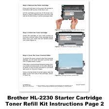 Hl 2230 Toner Light Amazon Com Brother Hl 2230 Starter Cartridge Toner Refill