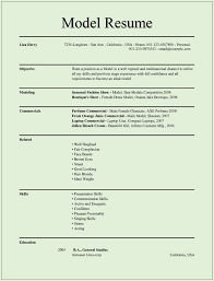 How To Make A Modeling Resume Marvelous Resume Model 100 Resumes Models Example Sevte 5