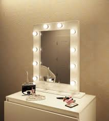 lighting hollywood vanity mirror with lights surprising astonishing and lighted makeup table australia for small