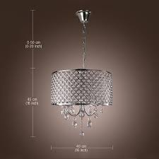 exquisite drum chandelier crystal modern 4 lights
