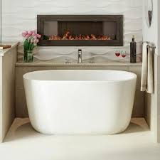 home lullaby nano 51 inch small freestanding solid surface bathtub
