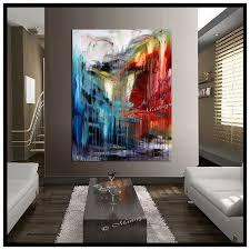 original artwork burdy painting abstract art modern artwork textured palette knife oversize canvas large artwork size 52 x 32