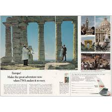 Amazon Com Relicpaper 1966 Twa Temple Of Poseidon Twa