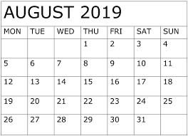 August Calandar August 2019 Calendar Download Design Free Latest Calendar