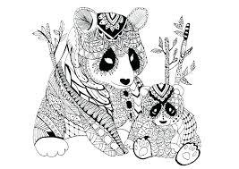 Panda Coloring Sheets