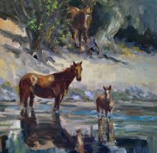 wildest dreams painting and wild horse adventure