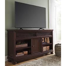 Ashley Furniture Gerlane XL TV Stand in Dark Brown