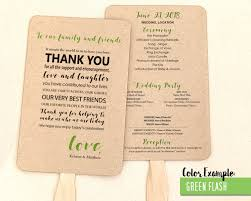 Wedding Program Fans Cheap Thank You Message Wedding Program Fan Cool Colors