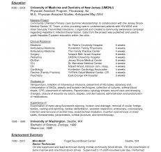 Physician Assistant Resume Ob Gyn Resume Amazing Physician Assistant Examples New Grad 14