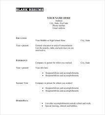 resume templates pdf
