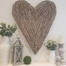 Large Wicker Heart With Lights Extra Large Wicker Heart West Barn Interiors