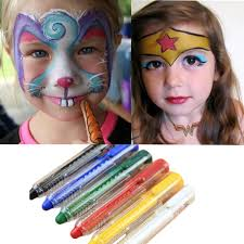 face paint kit for kids safe non toxic 6 color palette and 12 color palette professional quality childrens face painting in paint from beauty health