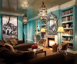 Famous Turquoise Living Room Design - with Leopard Chairs & Pillows _  Alkemie: The Great Thomas Britt - Old World Flavour with Modern Color and  Elegance