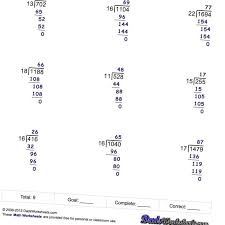 Division By No Remainders V1 Longorksheets Printableith Answers ...