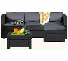 keter oxford rattan effect outdoor corner sofa graphite