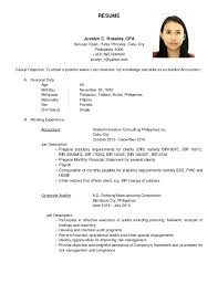 Career Objective For Resume For Accountants Best Of Resume Juvelyn C Rosales