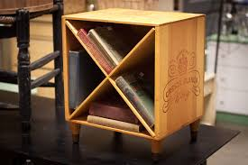 Exciting Wine Crate End Table Wooden Nightstand Wine By Shabbygirlglendora  Along With ?