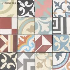 cement tile pacific collection patchwork random 4