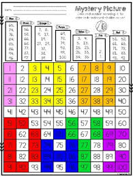 100s Chart Hidden Picture 100th Day Of School