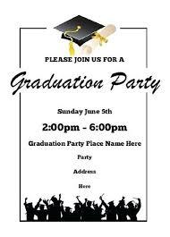 004 College Graduation Party Invitation Templates Free