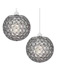 pair modern globe ceiling lights pendant lamp shades acrylic jewel chandeliers
