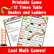 PRINTABLE snakes and ladders Multiplications 12 - Printable Games ...