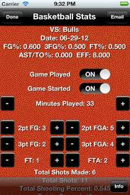 Basketball Tracker Basketball Stats Tracker Touch Iphone App App Decide