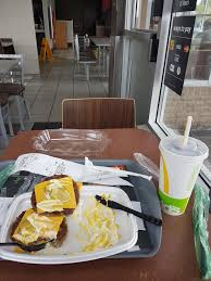 i haven t stepped inside of a mcdonalds in 5 months and as soon i did yesterday the smell of oily fries the line ups chaos and anarchy suddenly made