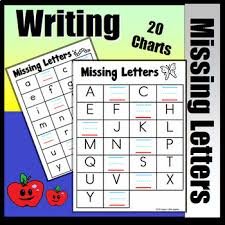 Upper And Lowercase Abc Chart Abc Charts Write The Missing Uppercase And Lowercase