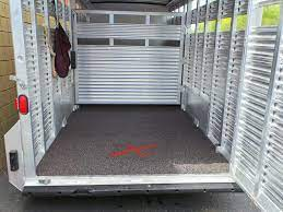 Made with 100% recycled tires, they were designed as a replacement for cumbersome aluminum and wood floors covered with rubber matting. Horse Trailer Flooring Polylast Systems