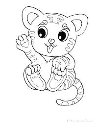 Coloring Cute Baby Animal Coloring Pages Children Animals Colouring