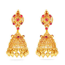 Buttalu Designs Gold Gold Earring Latest Gold Earring Buttalu Models Gold Jhumka