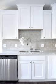 gray and white backsplash tile love the smoke grey glass subway tile with the white shaker gray and white backsplash tile