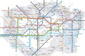 tfl's 'walk the tube' map shows walking distance between london