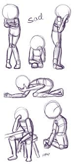 Sad Poses This Is A Quick Little Reference Sheet Of Sad Poses This