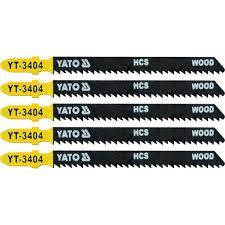 JIG SAW BLADE TYPE <b>T</b>, 10 TPI, FOR WOOD, <b>5 PCS</b> - Yato