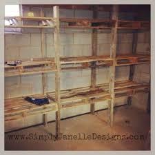 Incredible Pallet Shelf Image Ideas Shelves In Our Basement Simply Janelle  Designsts Hanging Shelfdiy