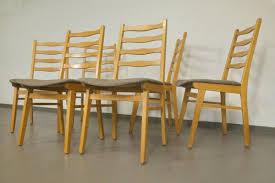 Set Polsterstuhl Esszimmer Stuhl Neu Gepolstert Bezogen Buche 6 Stühle 60er