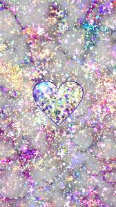 Glittery Marble Heart Made By Me Purple Sparkly Wallpapers
