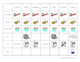 51 Logical Visual Chore Chart Printable