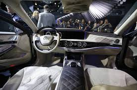 Interior of the Mercedes-Maybach S-Class is pictured during the ...