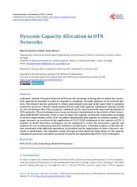 pdf dynamic capacity allocation in otn networks