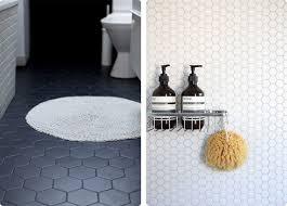 hex tile bathroom floor grout