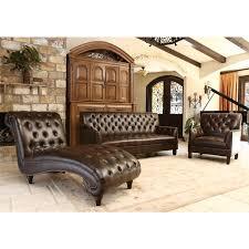 abbyson alessio brown leather living room sofa set free