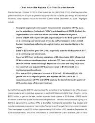 Chart Industries Ga Chart Industries Inc 2018 Q3 Results Earnings Call