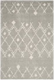 safavieh berber ber164b light grey cream area rug