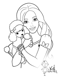 Barbie Coloring Page Excellent Portrait Have On With Hd