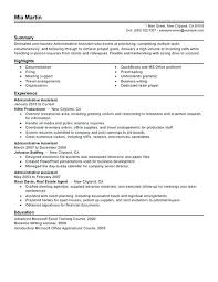Sample Resumes Examples Enchanting Administrative Assistant Resume Example Free Admin Sample Resumes