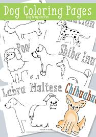 Small Picture Dog Coloring Pages Free Printable Easy Peasy and Fun