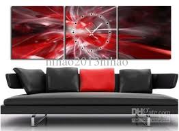 red and silver canvas wall art
